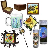 Ceramic Tile Products, Jewelry Boxes, Wall Trivets, Garden Stakes & Coffee / Tea Mugs (Pacific Trading), Glass Pillar Candles (Past Licensee)