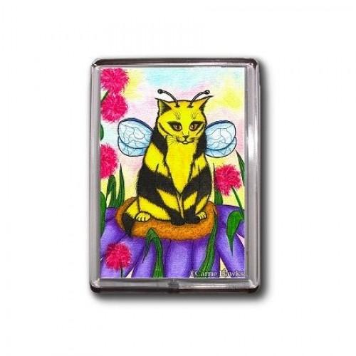 Magnet - Buzz Bumble Bee Cat