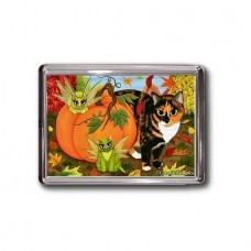 Magnet - Calico's Mystical Pumpkin