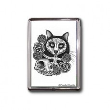 Magnet - Day of the Dead Cat Skull