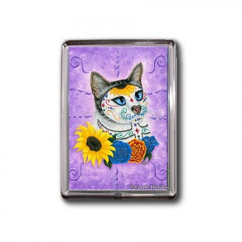 Magnet - Day of the Dead Cat Sunflowers