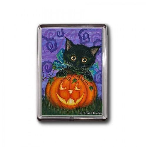 Magnet - Halloween Black Kitty