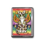Magnet - Rainbow Paisley Fairy Cat