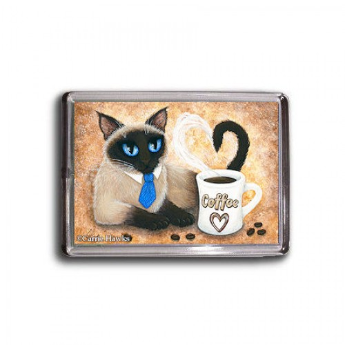 Magnet - Siamese Coffee Cat
