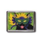 Magnet - Wild Mardi Gras Cat