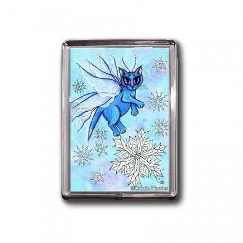 Magnet - Winter Snowflake Fairy Cat