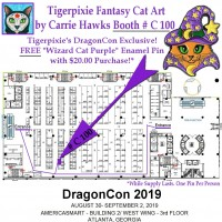 DragonCon Map 2019 Booth # C 100