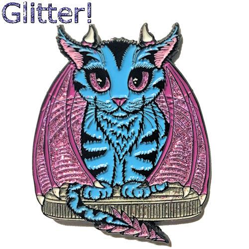 Enamel Pin - Blue Dragon Kitten