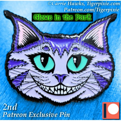 Enamel Pin - Cheshire Cat Face