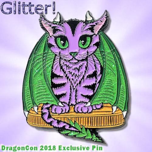 Enamel Pin - Purple Dragon Kitten