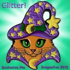 Enamel Pin - Wizard Cat Purple