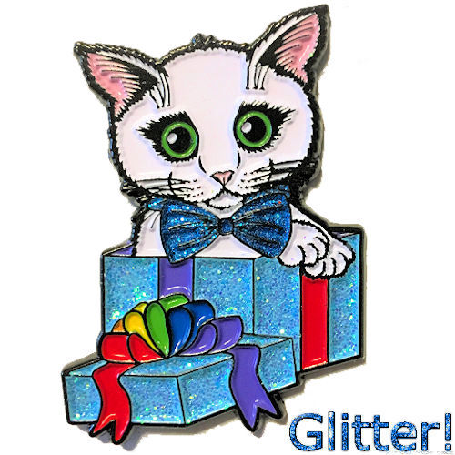 Enamel Pin - Gift Kitten Boy
