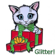 Enamel Pin - Holiday Kitten Boy