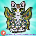 Enamel Pin - Rainbow Paisley Fairy Cat