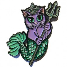 Enamel Pin - Purrseidon Purple