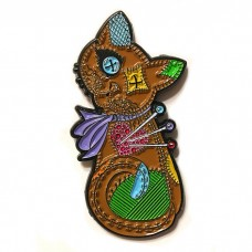 Enamel Pin - Voodoo Cat Doll