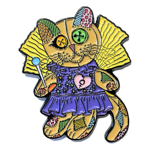 Enamel Pin - Voodoo Empress Fairy Cat Doll