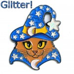 Enamel Pin - Wizard Cat Blue