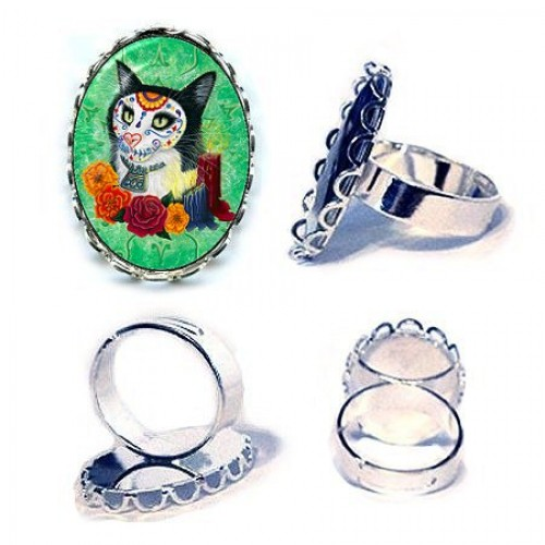 Ring - Day of the Dead Cat Candles