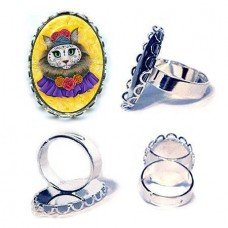 Ring - Day of the Dead Cat Princess
