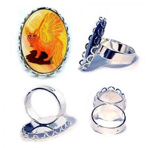 Ring - Elemental Fire Fairy Cat