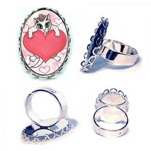 Ring - Kitten With Heart